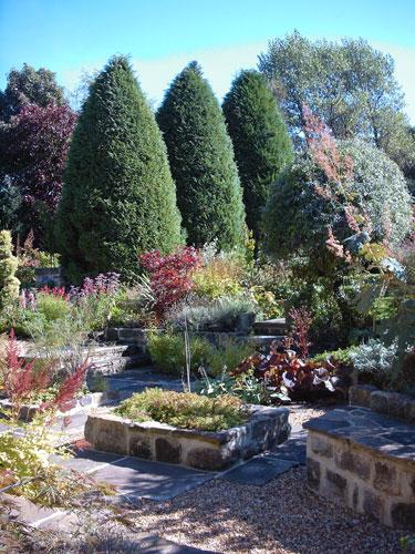 an english topiary and parterre garden